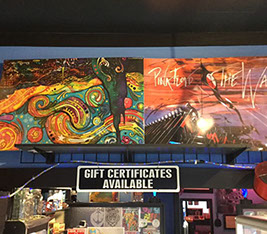 Paintings and sign - gift cards available