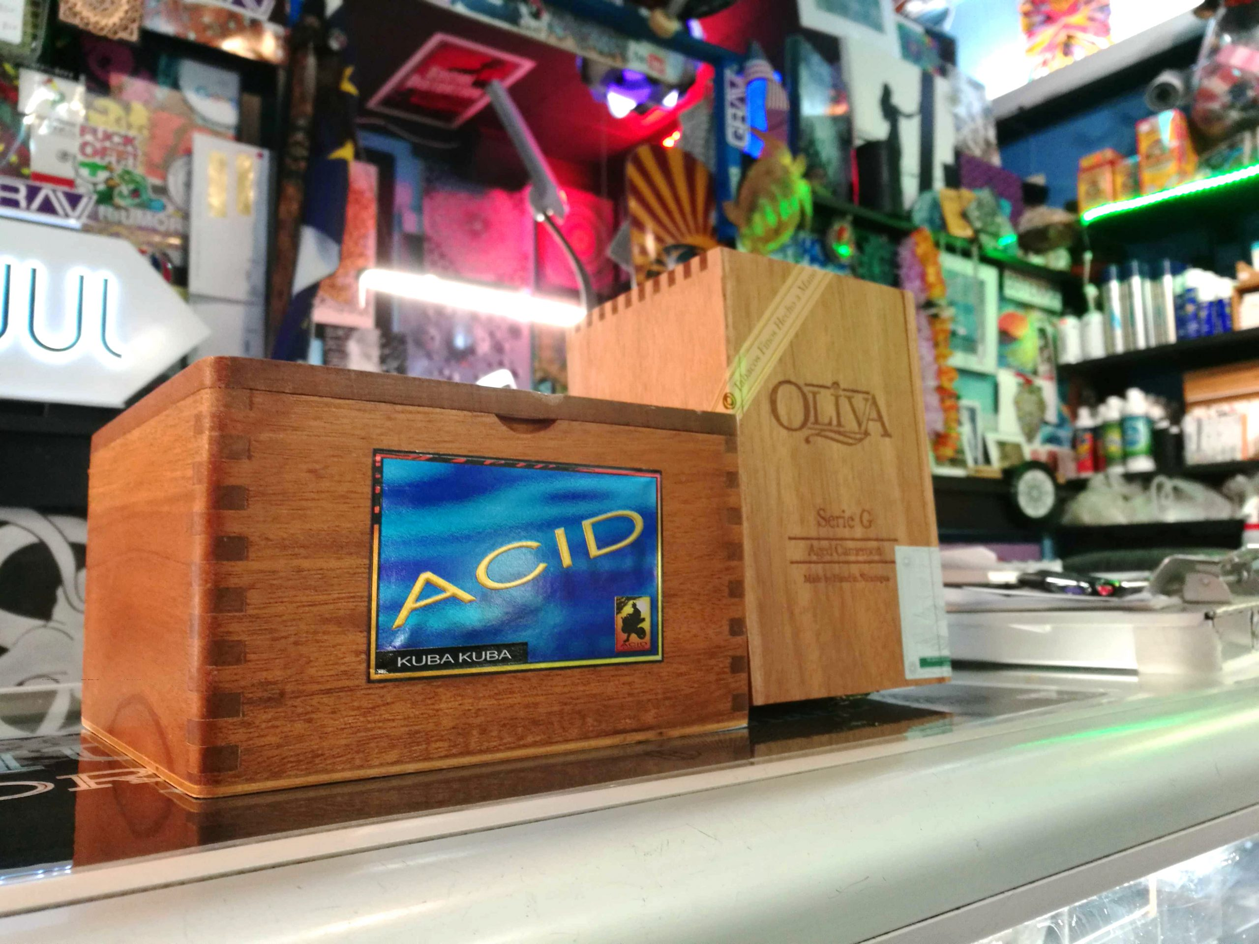 ACID and Olivia cigar boxes